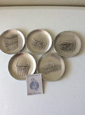 Longaberger Rare Five Wendell August Forge JW Basket metal plates, see picture