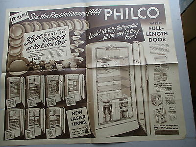 Philco Refrigerator Demonstration Sale Mailer from 1949