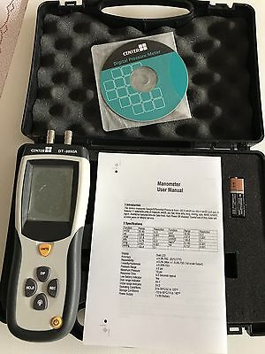 Digital Manometer Pressure Meter DT-8890 Mint Condition