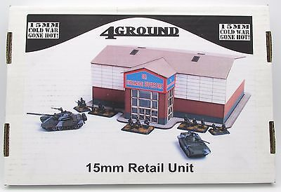 4Ground 15S-CWG-111 15mm Retail Unit Cold War Gone Hot Terrain Building Store