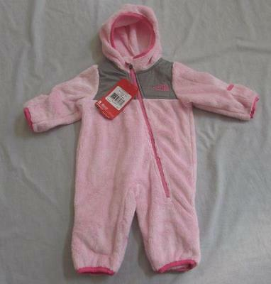 THE NORTH FACE baby girl Oso coy pink one piece bunting outerwear plush NEW