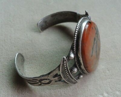 Native American Navajo Old Pawn  Sterling Cuff Bracelet