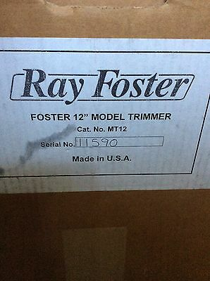 "RAY FOSTER - 1/2HP MT12 Dental Trimmer - 12"" Diameter - NEW"
