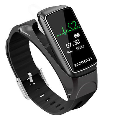 Smart Watch Sports Bracelet Headset Bluetooth Fitness Tracker For Android & iOS