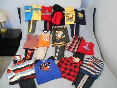 24 Pc Mixed Lot Boys Size 2-2T Used Fall & Winter Clothing