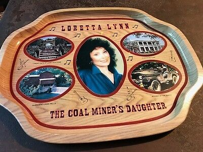 Vintage Loretta Lynn Metal Serving Tray 13 Inches X 16 inches--Good condition
