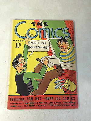 The Comics #1 Key Issue, Rare, 1937, 1St Tom Mix, Arizona Kid,  Spy Doctor Doom