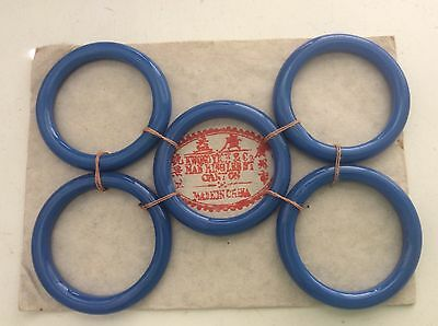 Vintage Kwong Yick & Co.  Glass Sewing Basket Rings (5)