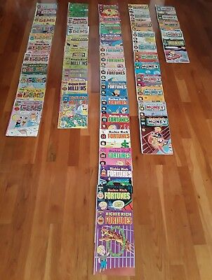 Vintage Lot of 52 Harvey Comics Richie Rich Comic Books No 1 GEMS, CASH,  etc