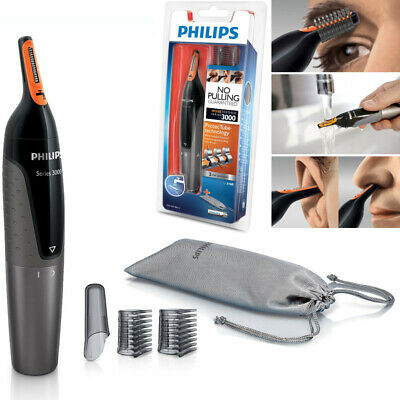 Philips Nose Ear Eyebrow Hair Trimmer Shaver Washable/No Pulling/No Cut