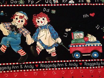 Collectable Raggedy And Andy School📚days, 4.75 Yards✂️100% Cotton.