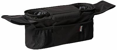 Britax Stroller Organizer, Black Two Cup Holders Sturdy Durable Water Bottle