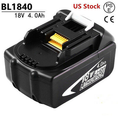 Replacement for Makita 18Volt Battery 4.0AH BL1840 BL1850 BL1860 BL1830 Tools