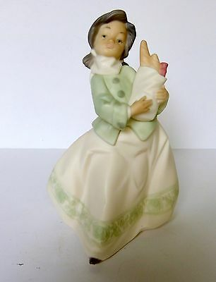 Lladro Daisa Golden Memories Girl Carrying Sack Of Groceries Figurine