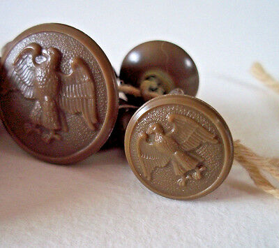 Lot of antique military buttons Civil war era American Eagles celluloid plastic