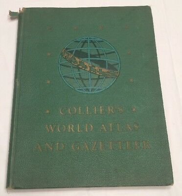 1943 Colliers World Atlas and Gazetteer Loose Pages History Class 02