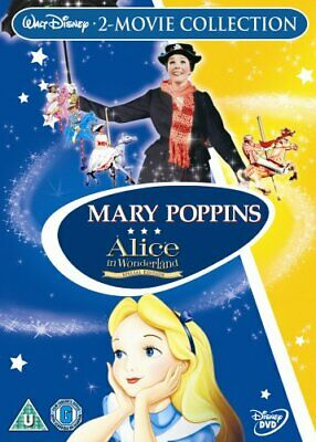 Mary Poppins/Alice In Wonderland [DVD] - DVD  LEVG The Cheap Fast Free Post