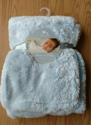 ADIRONDACK Baby Blanket Soft Warm Fluffy Infant Lovey Boys Girls Light Blue NEW