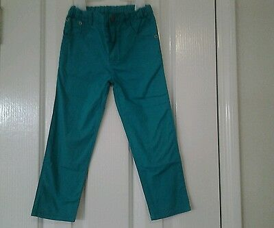 Green cotton pants unisex boy great condition size 3