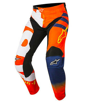 2018 Alpinestars Youth Racer Braap Pant Orange/Dark Blue