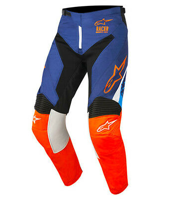 2018 Alpinestars Racer Supermatic Pant Blue/Orange Flo