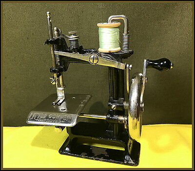 Antique Smith & Egge -Little Comfort Improved- Toy Hand Crank Sewing Machine