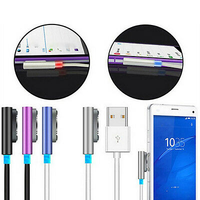 Compact Fast Charging Cable for Sony Z1 Z2 Z3 Xperia Aluminum USB Charger Cable