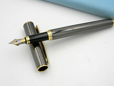 new GOLDEN M For School and Offices Gun gray Fountain Pen