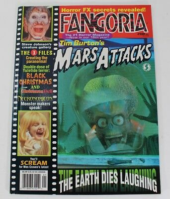 Fangoria Gore Horror Magazine Issue 159 Jan 1997 Tim Burton's Mars Attacks Cover