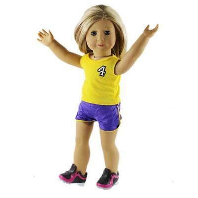 No.4 Casual Basketball Sport Set Fit 18'' American Girl Journey My Life Doll