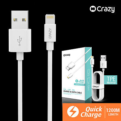 Crazy USB Data Charging Cable Charger Cord for Apple iPhone 8 6s 5s plus 7 iPad