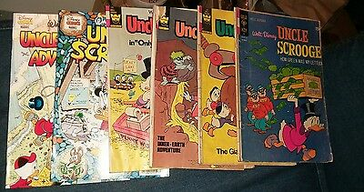 Walt dosney's uncle scrooge 6 issue bronze age comics lot duck tales collection