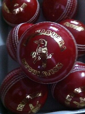 12 xRed 152-160gm Cricket Ball Solid Hide Bat friendly A Grade 4 pieces