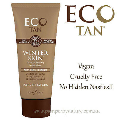 Eco Tan Organic Winter Skin - Natural Vegan Self Tanning Moisturiser 200ml