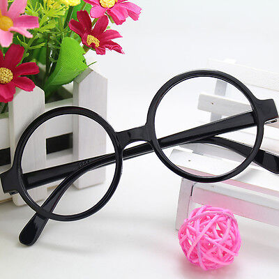 Kids Cosplay Round Glasses Frame Black Resin No Lens Frame Glasses