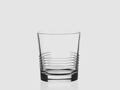Whisky Glass S/6 RCR Italian Crystal Break Line Bicchiere