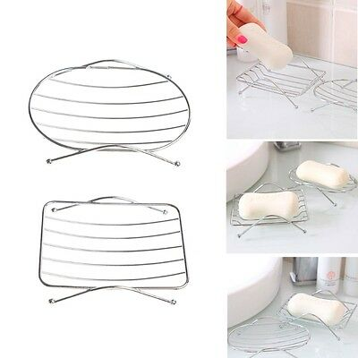 Bathroom Stainless Steel Soap Dish Tray Box Stand Soap Holder Organizer Storage