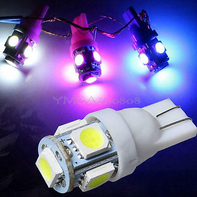 20Pcs/Set T10 5050 5SMD White LED Car Light Wedge Lamp Bulbs Super Bright DC 12V