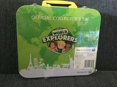 Woolworths Official Collectors World Explorers Tin Sealed Unopened