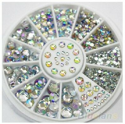 1000 Clear Adhesive Stick On Diamonte Gems Crystal Rhinestone Diamantes