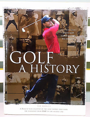 Golf - A History! Hardcover Book with Dust Jacket by Ted Barrett!