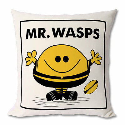 NEW Rugby Cushion / Wasps Cushion- Mr / Miss / Mrs / Little