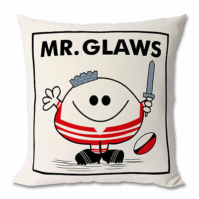 NEW Rugby Cushion / GLOUCESTER CUSHION - Mr / Miss / Mrs / Master
