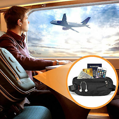 Unisex Money Belt for Men&Women, Undercover Secure Hidden Travel Passport Holder