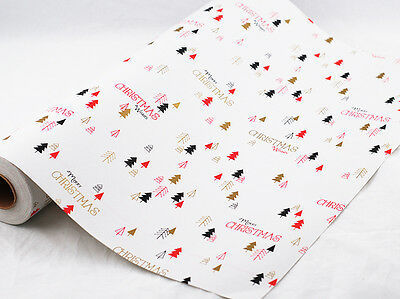 XMAS GEO FOREST GIFT WRAPPING PAPER 50cm x 5 METERS
