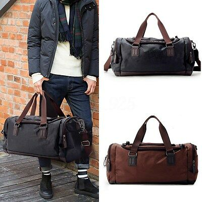 AU Large Men PU Leather Duffle Sports Bag Tote Handbag Travel Gym Fitness Bags
