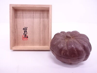 3103404: Japanese Tea Ceremony / Copper Pumpkin Incense Container / Kogo
