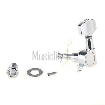1Pc Chrome Guitar String Sealed Tuner Tuning Peg Key Machine Head For Left Hand
