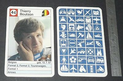 Carte Coureur Automobile 1984 Formule 1 Grand Prix F1 Thierry Boutsen Belgique
