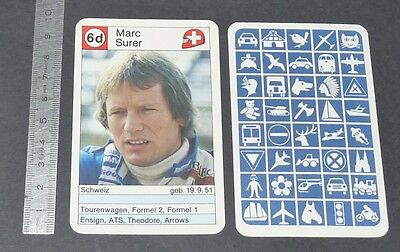 Carte Coureur Automobile 1984 Formule 1 Grand Prix F1 Marc Surer Suisse Arrows